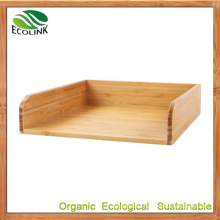 Bamboo Desk Letter Tray Paper Tray Organizer