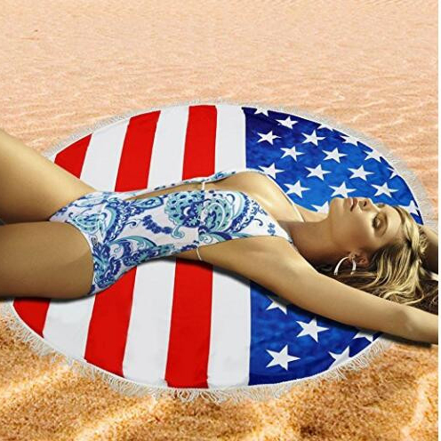 flag beach towel