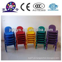 JQP0414 crianças de jardim de infância plástico empilhando cadeira dobrável
