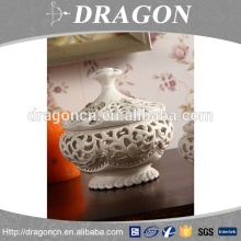 High grade home decoration hollow out ceramic jewelry jar