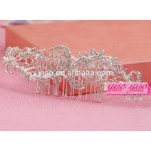 Beste Verkauf Haarschmuck Kristall Hochzeit Braut Tiara Krone Kamm