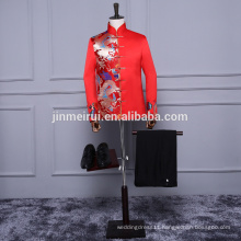 Free Shipping Red men suits 2017 formal evening dress at party prom gowns suzhou