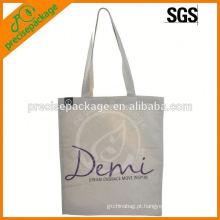 bolsa de algodão promocional de moda com impressão personalizada