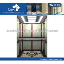 Hairline/etching/mirror stainless steel elevator for hotel, high speed