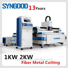 500W 1KW 2KW Laser Cutter Fiber Syngood 1.5X3.0m 0.5-16mm C.S. and Stainless Steel