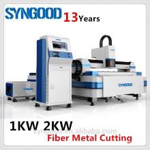 500W 1KW 2KW Cortador de laser Fibra Syngood 1.5X3.0m 0.5-16mm CS e aço inoxidável