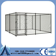 Perros de perro negro resistente dos jaula de animales grandes puertas