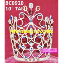 Coroas de cristal de beleza e tiaras