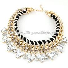Última Popular collar de cadena de aleación de cristal
