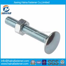 DIN603, DIN605, DIN608 zinco cabeça plana parafuso quadrado de pescoço, parafuso de carro