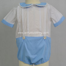 Short sleeve blue baby romper baby wear