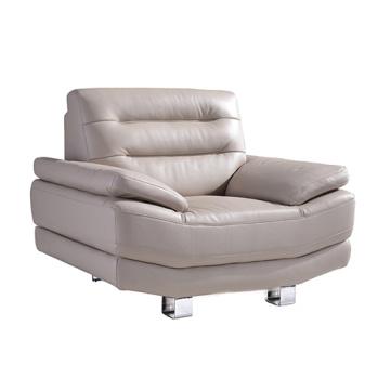 Metal Armrest Living Room Leather Sofa Set