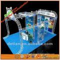 Three sides open booth map, custom design trade show booth display made of aluminum truss displays