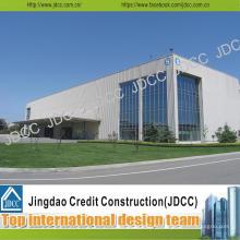 Bâtiment d'usine de structure en acier de lumière de galvanisation de haute qualité
