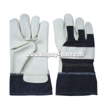 Light Color Full Palm Furniture Leather Work Glove-4027