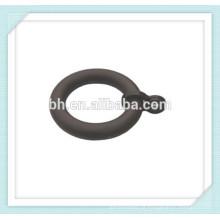Anéis de cortina de madeira de 50mm, anel de cortina preto