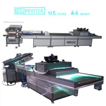 Máquina de impressão de tela e máquina de cura com braço robótico