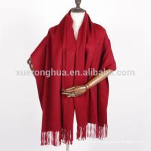 вино красное сплошной цвет 100% кашемир шаль фабрика