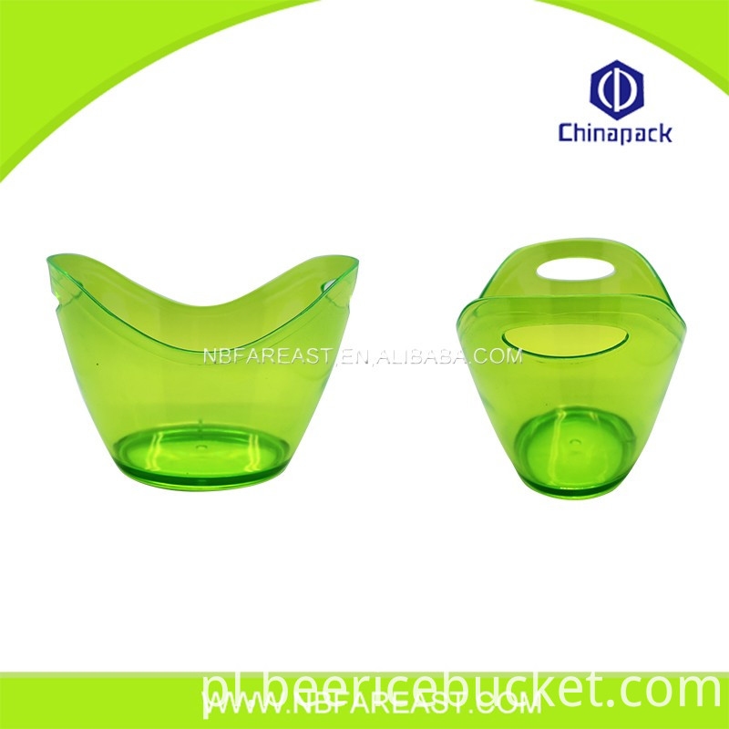 Promotion custom colored plastic ice bucket