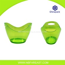 Promotional colourful clear plastic beer bucket