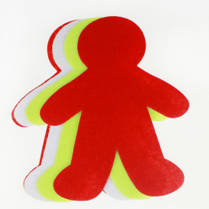 Man shape hard felt sheet for Kids crafting