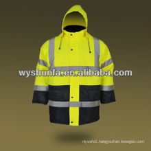 warning jacket waterproof treated Waterproof police Reflective Safety Jacket