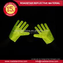 Alta calidad doble cara reflectiva prismático reflexivo guantes de pvc para la policía