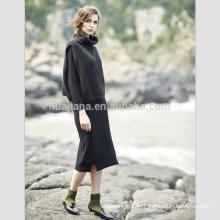 Nette Kaschmir-Pullover lange Kleid Anzug