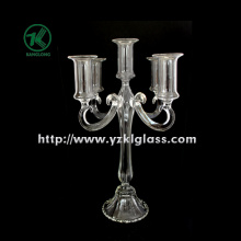 Glass Candle Holders for Party Decoration with Five Posts (9.5*22*33.5)