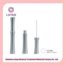 Tarro cosmético acrílico tubo de brillo labial vacío plata