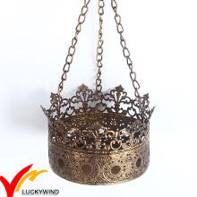 Hochwertiger Crown Metal Teelicht Kerzenständer