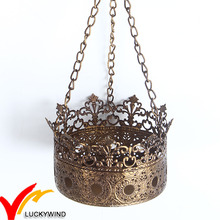 Bougeoir en métal de haute qualité en métal de couronne
