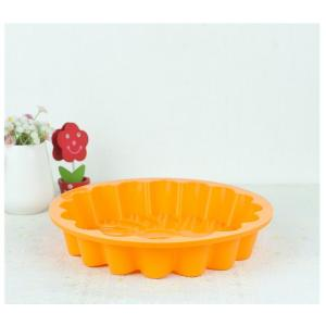 Round Flower Shape Silicone Cake Baking Mould