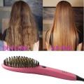 Hair Straightening Brush with Ceramic Coating Plate