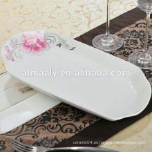 Platos de cena de porcelana forma de pescado