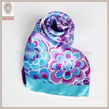 Pañuelo de seda real pañuelo de bolsillo al por mayor