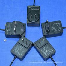 24V1a Adaptateur 12V2a Alimentation à découpage pour routeur, POS, boîtier décodeur, bandes LED