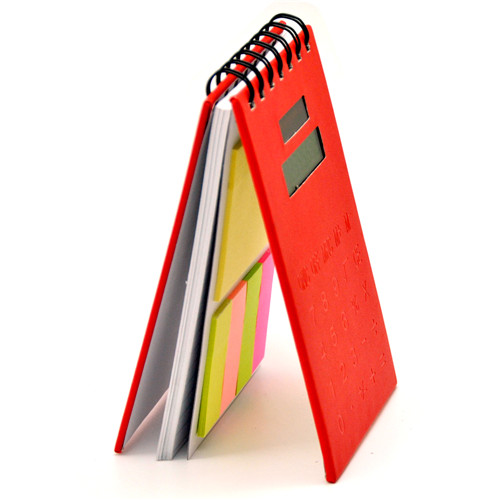 sticky notebook with calculator
