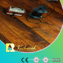 Commercial 12.3mm Hand Scraped Cherry V-Grooved Laminate Floor