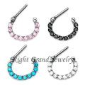 316L Surgical Steel Septum Clicker Body Piercing Jewelry