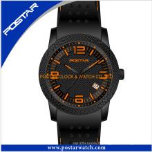 Montre de montre de silicone nouvelle montre sport avec qualité imperméable à l'eau