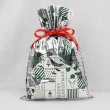 Рождественские полиэтиленовые пакеты, упаковка подарочные пакеты