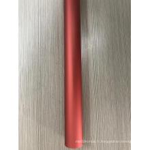 Tube en aluminium anodisé rouge
