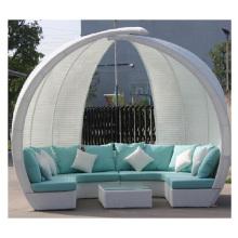 2016 Sofa en osier de luxe de patio de meubles avec le coussin (CF1256H)