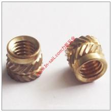 China Lieferant Stahl Messing Embedded Nut Hersteller für Kunststoffe