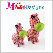 Best Selling Lovely Pink Horse Piggy Bank Set Ceramic