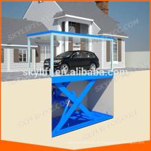 Tesoura hidráulica usada do elevador do jaque do carro da garagem