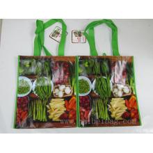Brilhante reutilizável não tecido com laminação OPP sacos
