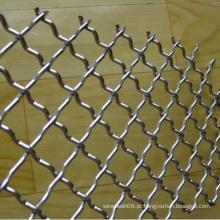 Aço inoxidável frisado painel de malha de arame para exportação