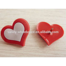 Plastic heart soft board pins